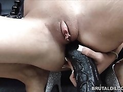 Amy Brooke double dildo penetration and anal prolapsing