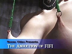 Fifi enjoying the bondage