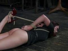 Gagged and bound woman is ready for cruel punishment BDSM
