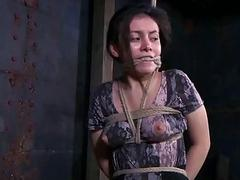 Tight ties keep this bitch obedient and quiet BDSM movie