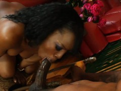 Black babe wants a big dick in her ass
