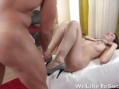 Weliketosuck  Stunning Rebeca Kubi gets her pussy filled with dick for the first time