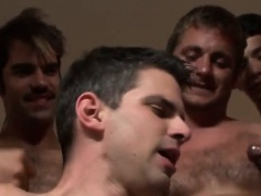 Amazing gay scene Hell-raising Bukkake with