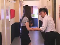 Japanese cutie doggystyle fucked