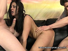 Brunette Brittany Shae  Gets Sandwiched By Ex Lovers