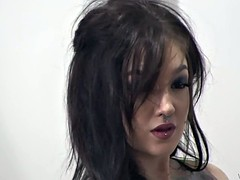 Smoking hot goth sluts came for photo session and casting