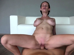 Stacked amateur wife enjoys a hot ride of fucking POV style