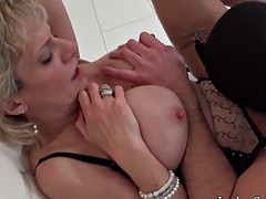L sonia posted masked guy - bubbles and cum on tits