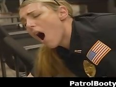 White Female Officers In Uniforms Fucked By Black Suspect