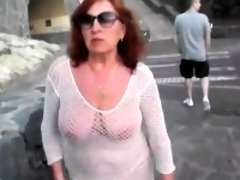 Gorgeous Slut Walks Round The Town with D