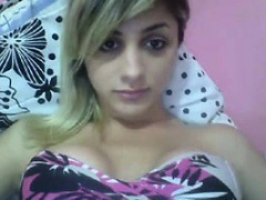 Tgirl teen shows herself on webcam