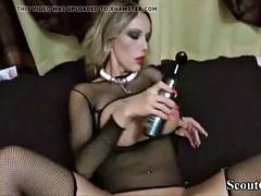 german milf in hot fishnet lingerie seduce to anal fuck