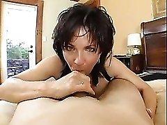 Pornstar Deauxma puts on lingerie for him