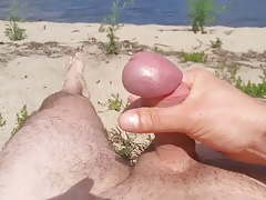 Cumshots on the beach Rewa