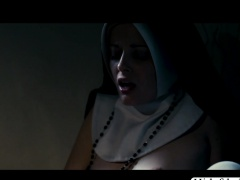 Horny lady Charlotte in hot solo masturbation in her room