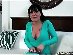Milf in lusty cleavage baring dress eaten out