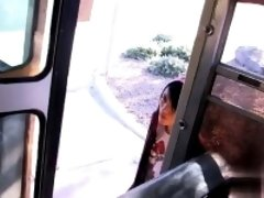 Gay fuck Roxy Red is the last one to ride the  Bus which mea