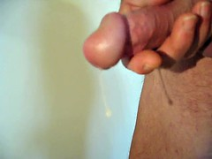 pre-cum flood preceded by a double ejaculation