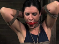Box tied bondage slut being disciplined