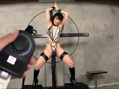 Kinky Asian lady in black boots is made to reach her climax