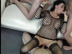 Brunette creampie and cum eating 2 part 1