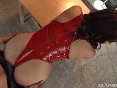 busty haduki naho rides the dick in a really professional way