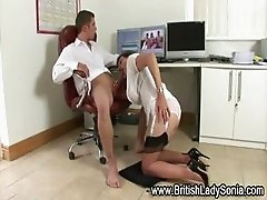 Nurse action for Lady Sonia and her naughty friend
