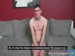 Guy gets horny getting naked in the part4
