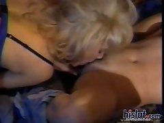 Two classic blondes find themselves tangled on the bed and working themselves into a frenzy. They are hot for pussy and its time to get naked. While t
