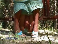 Russian model teasing outside