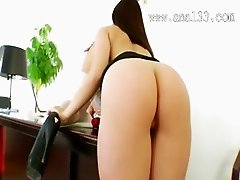 Brutal office anal women ass banged