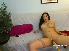 Latina live fucking machine webcam