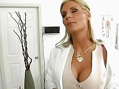 Horny big titted blonde bitch nailed by a kinky doctor