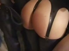 Lesbians Latex and Spanking