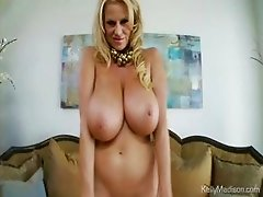 Huge Tits Bounce As Horny MILF Cums Hard