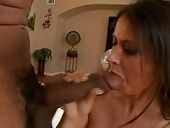 Horny bitch Eva Karera sucks hard on a huge dick before getting fucked hard and